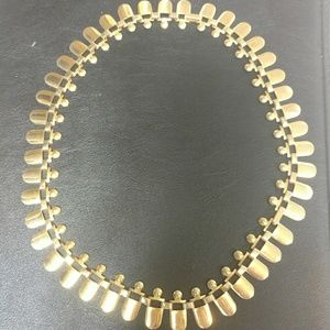 """Vintage gold tone necklace 22"""" unique"""